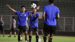 Indosport - TC Timnas Indonesia di Stadion Madya Senayan.