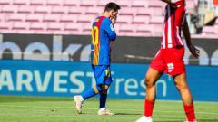 Indosport - Berikut hasil pertandingan LaLiga Spanyol, Barcelona vs Atletico Madrid, Sabtu (08/05/21). Jan Oblak tampil gemilang untuk bikin Lionel Messi dkk frustrasi.