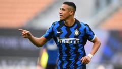 Indosport - Aksi Alexis Sanchez dalam laga Inter Milan vs Sampdoria
