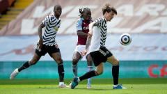 Indosport - Aston Villa vs Man United.