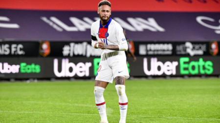 Neymar merayakan gol PSG ke gawang Rennes dengan cara berjoget - INDOSPORT