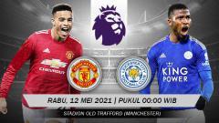Indosport - Berikut link live streaming pertandingan Liga Inggris pekan ke-36 antara Manchester United vs Leicester City di Old Trafford pada Rabu (12/05/21) pukul 00.00 WIB.