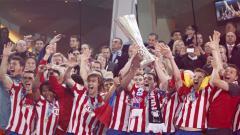 Indosport - Atletico Madrid menjuarai Liga Europa usai mengalahkan Fulham dalam pertandingam final, 12 Mei 2010.