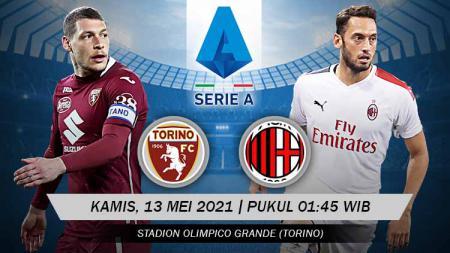 Prediksi pertandingan Torino vs AC Milan, Kamis (13/05/21) dini hari WIB. - INDOSPORT