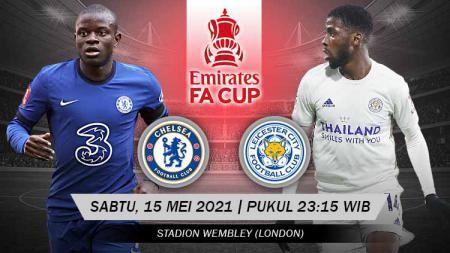 Berikut link live streaming pertandingan final Piala FA 2020/21 antara Chelsea vs Leicester City - INDOSPORT