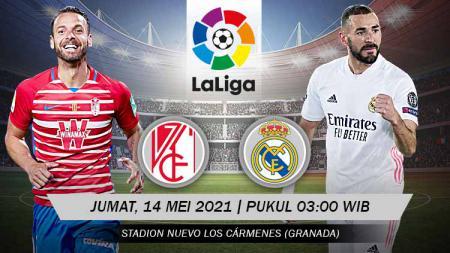 Duel Granda vs Real Madrid akan tersaji, Jumat (14/05/21) pukul 03:00 dini hari WIB. Pertandingan ini dapat disaksikan secara live streaming. - INDOSPORT