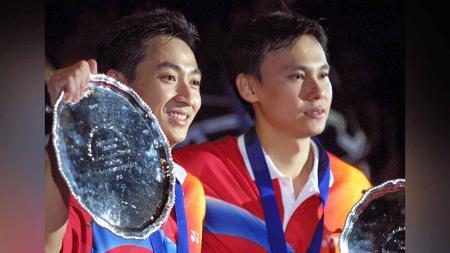 Kisah pasangan ganda putra Indonesia, Tony Gunawan/Halim Haryanto, yang menjuarai Singapore Open dan memutuskan hijrah ke Amerika Serikat. - INDOSPORT
