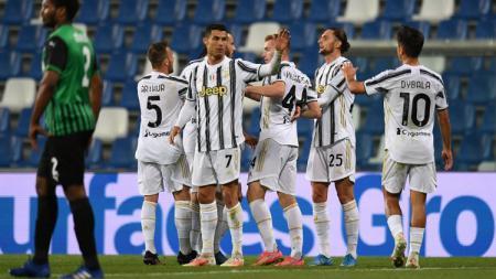 Meski gagal membawa mereka ke 4 besar Serie A Italia, kemenangan Juventus 3-1 atas Sassuolo menghasilkan 3 rekor bagi pemain mereka, termasuk Cristiano Ronaldo. - INDOSPORT