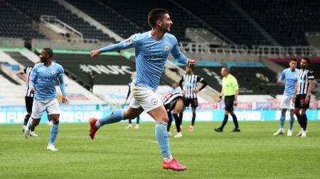 Manchester City berhasil menang dramatis atas tuan rumah Newcastle United pada lanjutan pekan ke-37 Liga Inggris 2020-2021. - INDOSPORT