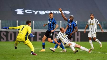 Pertandingan antara Juventus vs Inter Milan pada lanjutan pekan ke-37 Liga Italia yang dimenangkan oleh tim tuan rumah, Minggu (16/05/21) dini hari WIB. - INDOSPORT