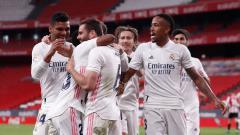 Indosport - Selebrasi Pemain Real Madrid di Liga Spanyol