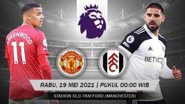 Link Live Streaming Liga Inggris Pekan ke-37 antara Manchester United vs Fulham.