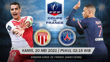 Pertandingan antara AS Monaco vs Paris Saint-Germain (Coupe de France). - INDOSPORT