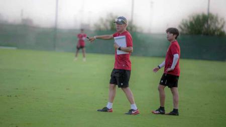 Latihan Timnas Indonesia di Dubai, Uni Emirat Arab, Rabu (19/5/21). - INDOSPORT