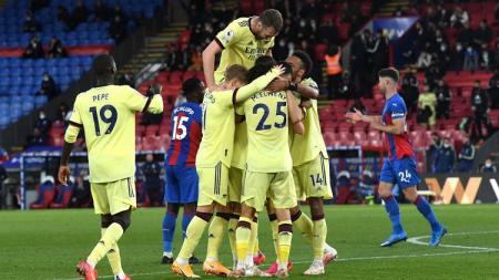 Arsenal berhasil mengandaskan Crystal Palace dalam laga lanjutan pekan ke-37 Liga Inggris 2020-2021, Kamis (20/05/21) dini hari WIB. - INDOSPORT