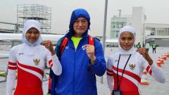 Indosport - Pedayung putri Mutiara Rahma Putri/Melani Putri meraih tiket menuju Olimpiade Tokyo.