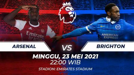 Link live streaming pertandingan Liga Inggris antara Arsenal vs Brighton & Hove Albion. - INDOSPORT