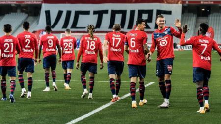 Skuat klub Ligue1 Prancis, Lille. - INDOSPORT