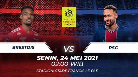 Berikut link live streaming pertandingan lanjutan Ligue 1 2020/21 pekan ke-38 antara Brest vs Paris Saint-Germain (PSG). - INDOSPORT