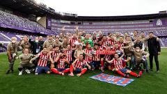 Indosport - Atletico Madrid resmi dinobatkan sebagai juara Laliga Spanyol musim 2020-2021.
