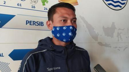 Gelandang Persib, Dedi Kusnandar, saat ditemui di Graha Persib, Jalan Sulanjana, Kota Bandung, Sabtu (22/5/21). - INDOSPORT