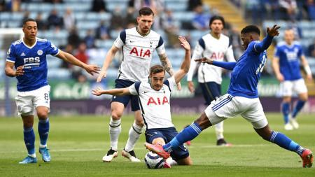 Tottenham Hotspur sukses meraih tiga poin kala bertandang ke markas Leicester City pada lanjutan pekan ke-38 Liga Inggris 2020-2021. - INDOSPORT