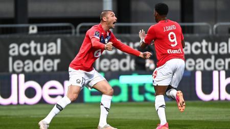 Lille sukes mengalahkan Angers dan memastikan diri sebagai juara Ligue 1 20202-2021, Senin (24/05/21) dini hari WIB. - INDOSPORT