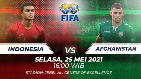 Indonesia vs Afghanistan. - INDOSPORT