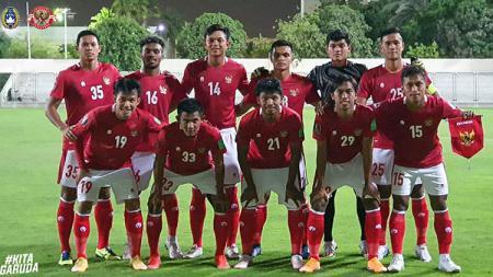 Skuad Timnas Indonesia melawan Afganistan. - INDOSPORT