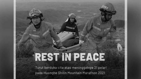 Sebanyak 21 pelari dikabarkan tewas di ajang Huanghe Shilin Mountain Marathon 2021, Sabtu (22/05/21) kemarin. - INDOSPORT