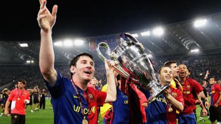 Masalah perekonomian di Barcelona terus memburuk ketika klub berjuluk Blaugrana itu ngotot ingin mempertahankan Lionel Messi. - INDOSPORT