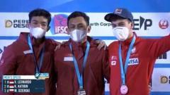 Indosport - Atlet panjat tebing kebanggaan Indonesia yaitu V. Leonardo berhasil memecahkan record dunia dalam kejuaran IFSC World Climbing Wold Cup 2021 yang diselenggarakan di Salt Lake City.