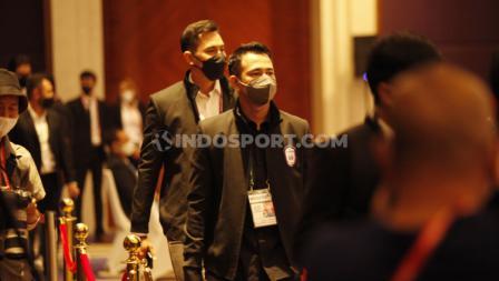Pemilik klub Rans Cilegon FC Raffi Ahmad tiba pada Kongres PSSI 2021 di Hotel Raffles, Jakarta, Sabtu (29/05/21).