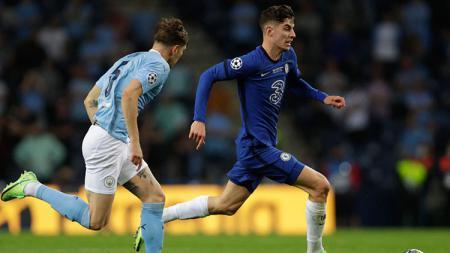 Manchester City vs Chelsea di final Liga Champions 2020/21. - INDOSPORT