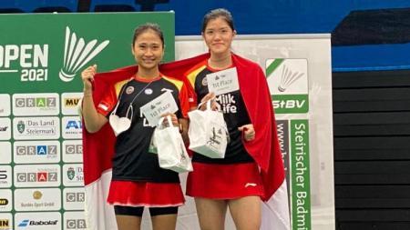 Eks pebulutangkis Pelatnas, Ni Ketut Mahadewi Istarani menyampaikan pesan menyentuh usai berhasil menjuarai Austrian Open 2021. - INDOSPORT