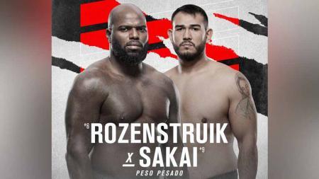 Jairzinho Rozenstruik vs Augusto Sakai di UFC di UFC Vegas 28. - INDOSPORT
