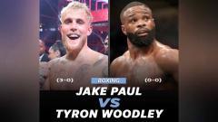 Indosport - YouTuber Jake Paul bakal hadapi petarung UFC, Tyron Woodley, di duel tinju.