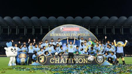 Kawasaki Frontale jadi penguasa J.League dengan tiga kali juara dalam empat tahun, musim 2017, 2018, dan 2020. - INDOSPORT