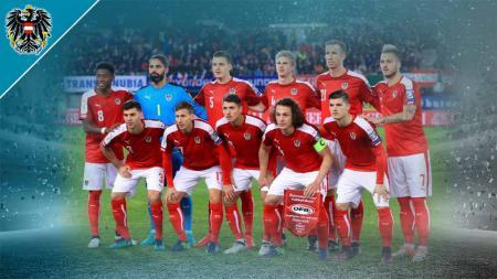 Timnas Austria di Euro 2020. - INDOSPORT