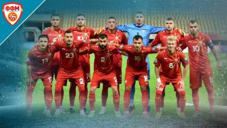 Timnas Makedonia Utara di Euro 2020. - INDOSPORT