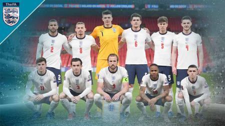 Timnas Inggris di Euro 2020. - INDOSPORT
