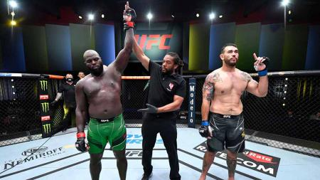 Kemenangan Jairzinho Rozenstruik atas Augusto Sakai di ronde pertama UFC Vegas 28. - INDOSPORT