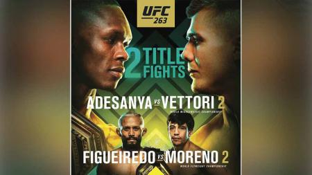 Dua perebutan gelar juara di UFC 263. - INDOSPORT