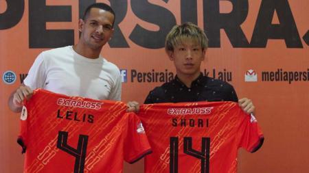 Pemain asing Persiraja Banda Aceh, Leonardo Lelis (kiri) dan Shori Murata (kanan). - INDOSPORT