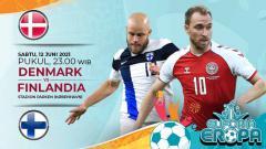 Indosport - Pertandingan antara Denmark vs Finlandia (Euforia Eropa 2020).