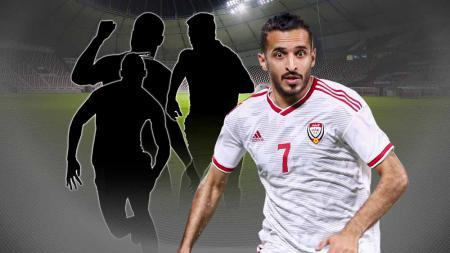 Ali Mabkhout, pemain Timnas United Arab Emirates. - INDOSPORT