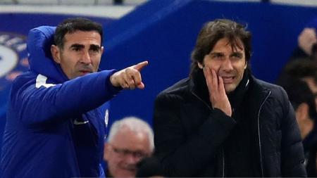 Angelo Alessio (kiri), eks tangan kanan Antonio Conte yang Jadi Pelatih Baru Persija. - INDOSPORT