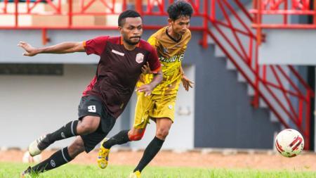 Muba Babel United berhasil menekuk tim tamu David FC 2-0 di laga uji coba. - INDOSPORT
