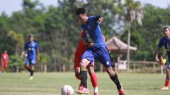 Indosport - Latih tanding Arema FC vs PS Hizbul Wathan dengan skor 4-2.