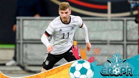 Timo Werner, pemain Timnas Jerman di Euro 2020. - INDOSPORT
